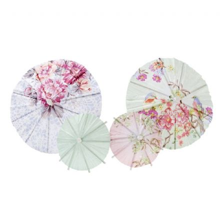 Truly Romantic Party Drink Parasols - Pack of 24